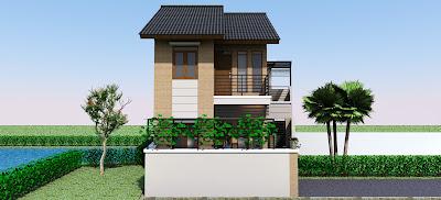 desain rumah minimalis 1 lantai on Desain Rumah Minimalis 2 lantai dengan dinding ekspose ~ REVIEW RUMAH