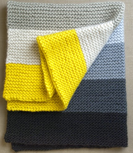 Knitting Pattern Crib Blanket : We Like Knitting: Super Easy Crib Blanket - Free Knitting Pattern