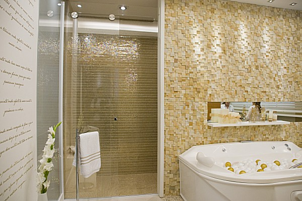 Decoração Com Pastilhas de Vidro  Cantinho da Sonia Moura # Banheiro Com Revestimento Tipo Pastilha