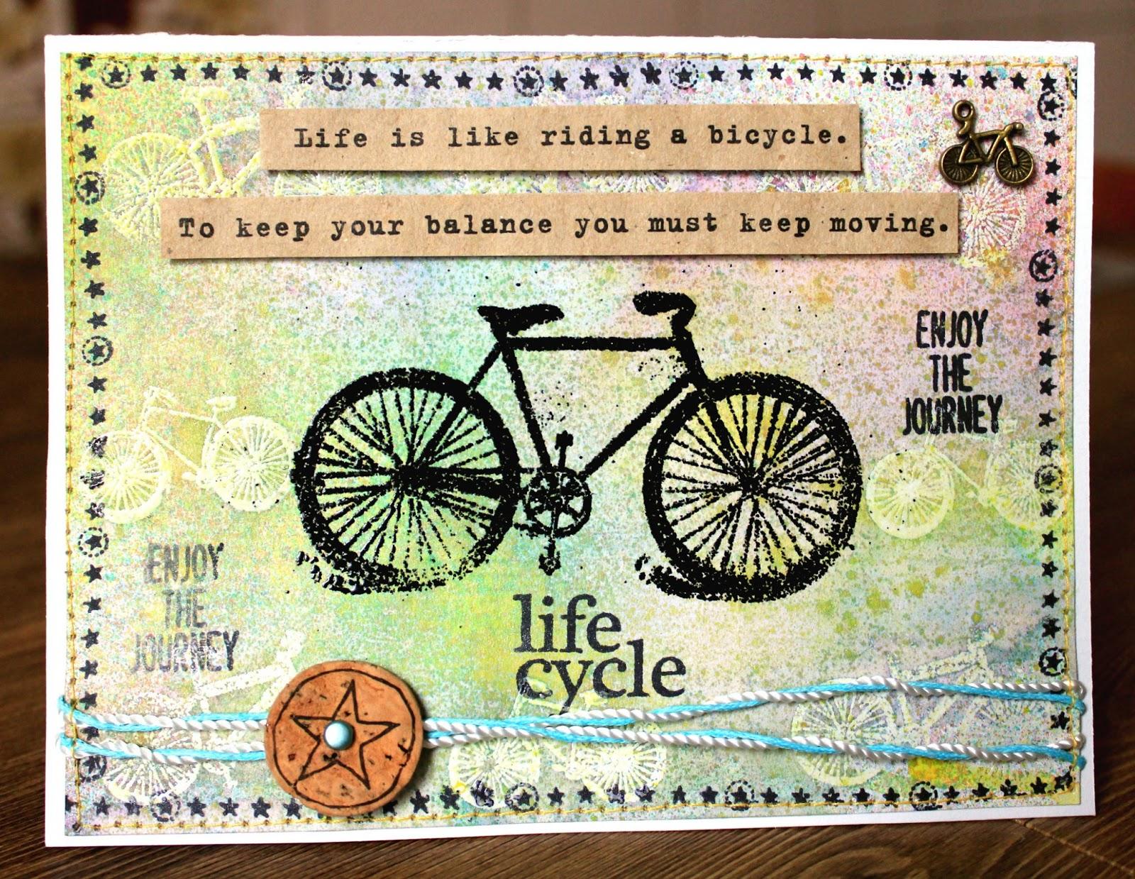 Велосипедное поздравление