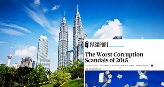 Malaysia Disenarai Antara 6 Skandal Rasuah Paling Teruk pada 2015 oleh FP