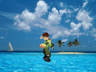 Ben Ten 10 Running free wallpapers in Blue Island background