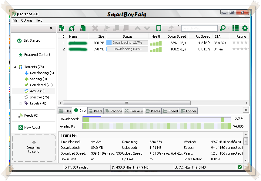 Increase utorrent speed 100