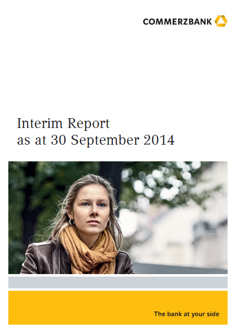 Commerzbank, Q3, 2014, front page