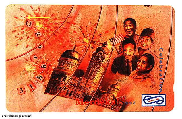 kad telefon awam uniphone - Merdeka 1992