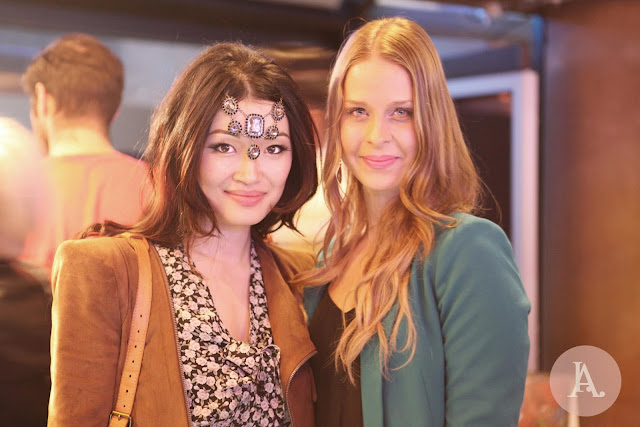 jasmine zhu with Jessica Karalash founder of KurateStyle at ecofashion week
