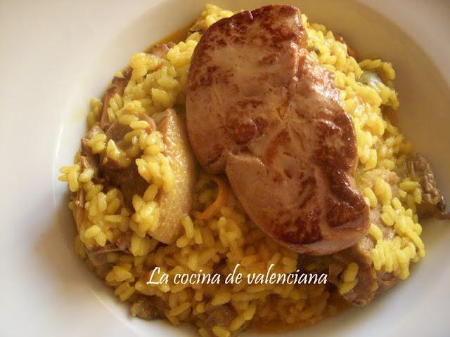La cocina de valenciana arroz meloso de pato con setas for Cocina valenciana