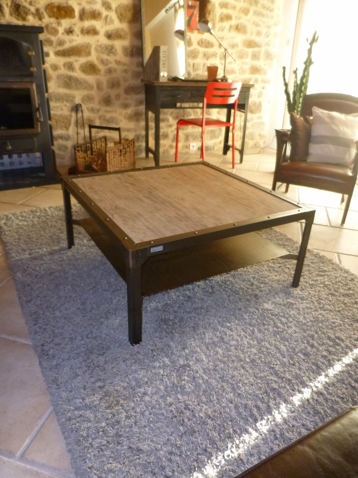 C factory creation table basse chene et metal - Creation table basse ...