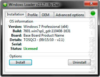 Activar Windows 7 (Loader v2.2.1) (32-64bits) (2013)