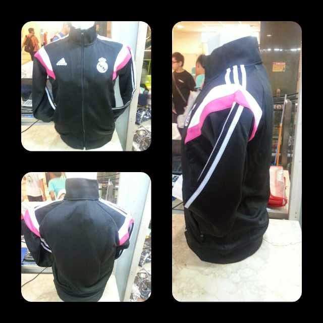 photo gambar jaket real madrid warna hitam terbaru