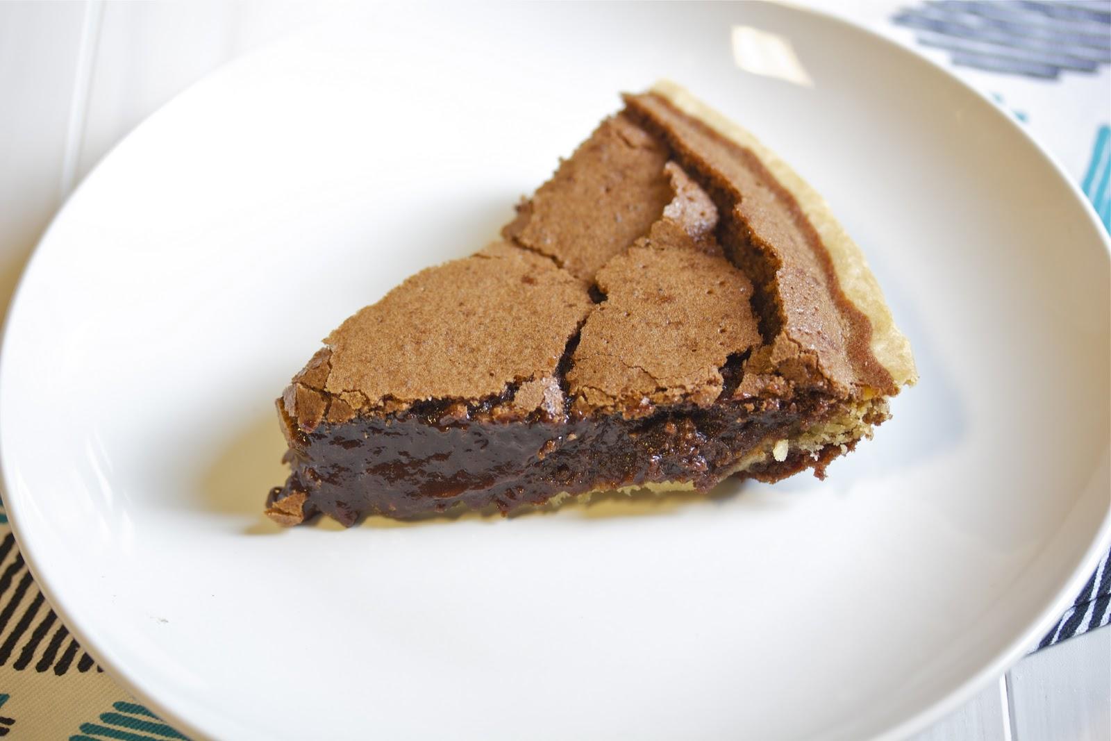 Chocolate Chess Pie - A Zesty Bite