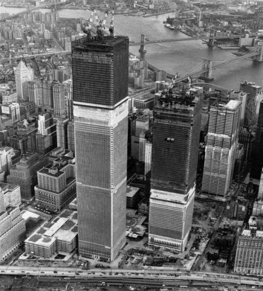 The Twin Towers Under construction (1971).