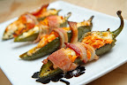 Bacon Wrapped Buffalo Chicken Jalapeno Poppers