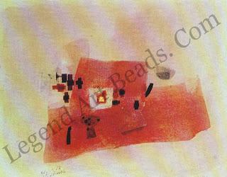 """Heinrich Eichmann, """"Circles"""". Oil and, gold leaf 1964, Haussmann Collection, Zurich."""