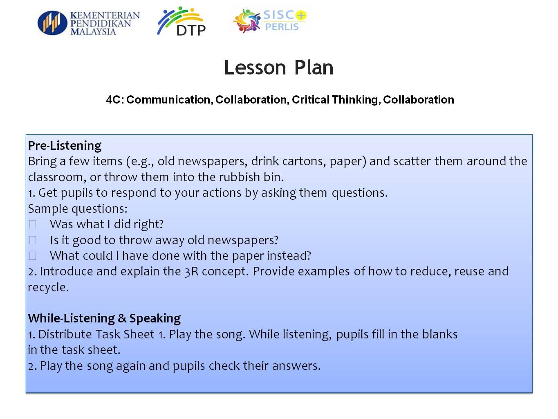 I Am A Teacher PLAN Pedagogy In The Classroom - 21st century lesson plan template
