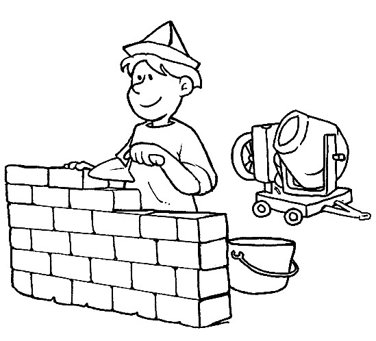 People And Jobs Coloring Pages For Kids: Various Jobs Colour Pages