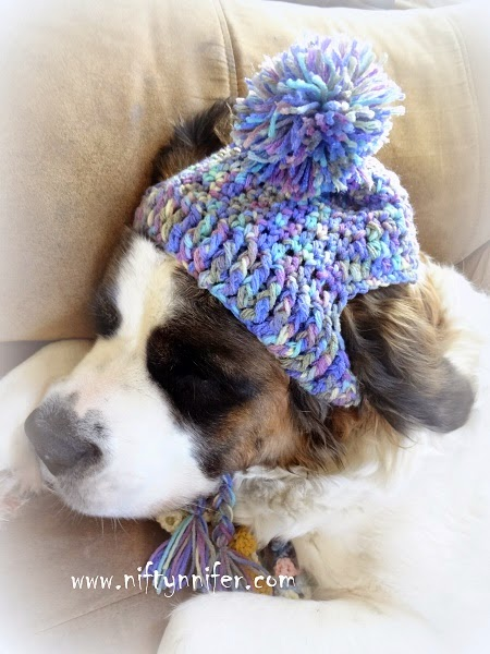 Crochet Pattern For Dog Hat With Ear Holes : Niftynnifers Crochet & Crafts: Free Crochet Pattern ~A ...