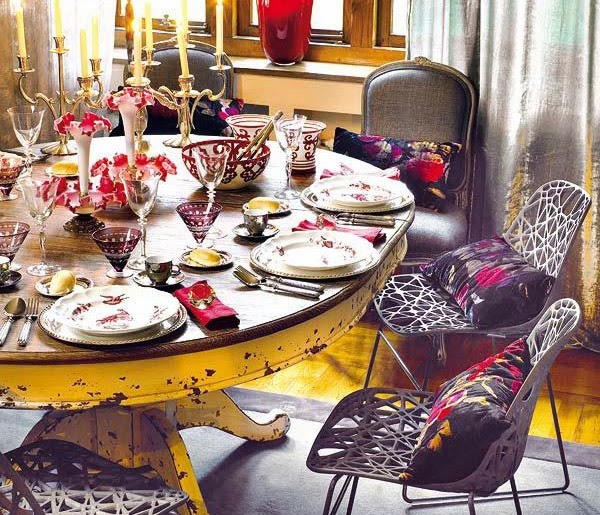 Stylish vintage residence decor furnishings and for Dining room decor accessories