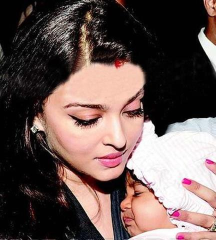 Aishwarya Rai with her Daughter