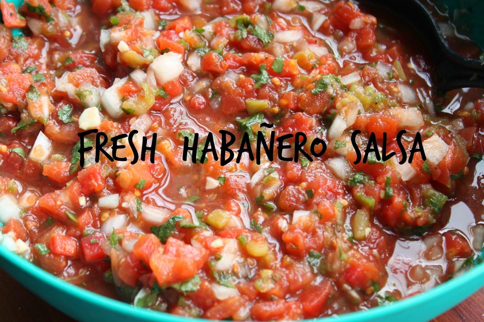 Simple Kind of Life: Fresh Habañero Salsa!