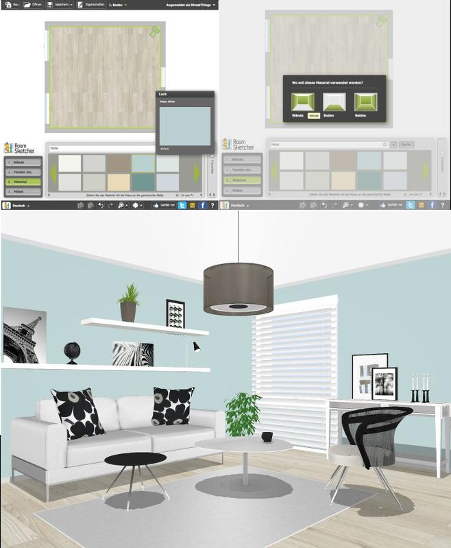 Wohnzimmer news und online raumplaner roomsketcher for Wandfarben simulator
