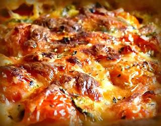Cacerola de queso y carne