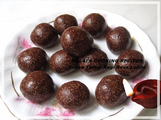 Cocoa-Thina-Kelvargu Laddu | Cocoa Millets Laddoo | தினை கேழ்வரகு லட்டு