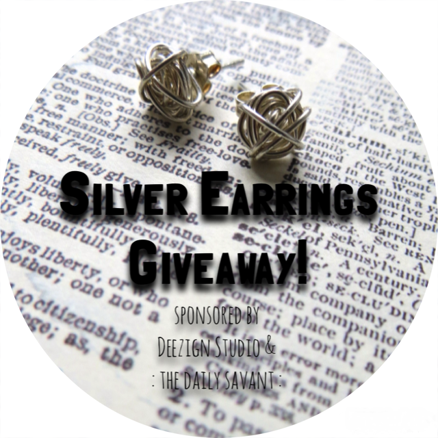 freebie, giveaway, freebie Friday, contest, sweepstakes, handmade earrings, deezign studio etsy, deezign studio, silver wrap earrings