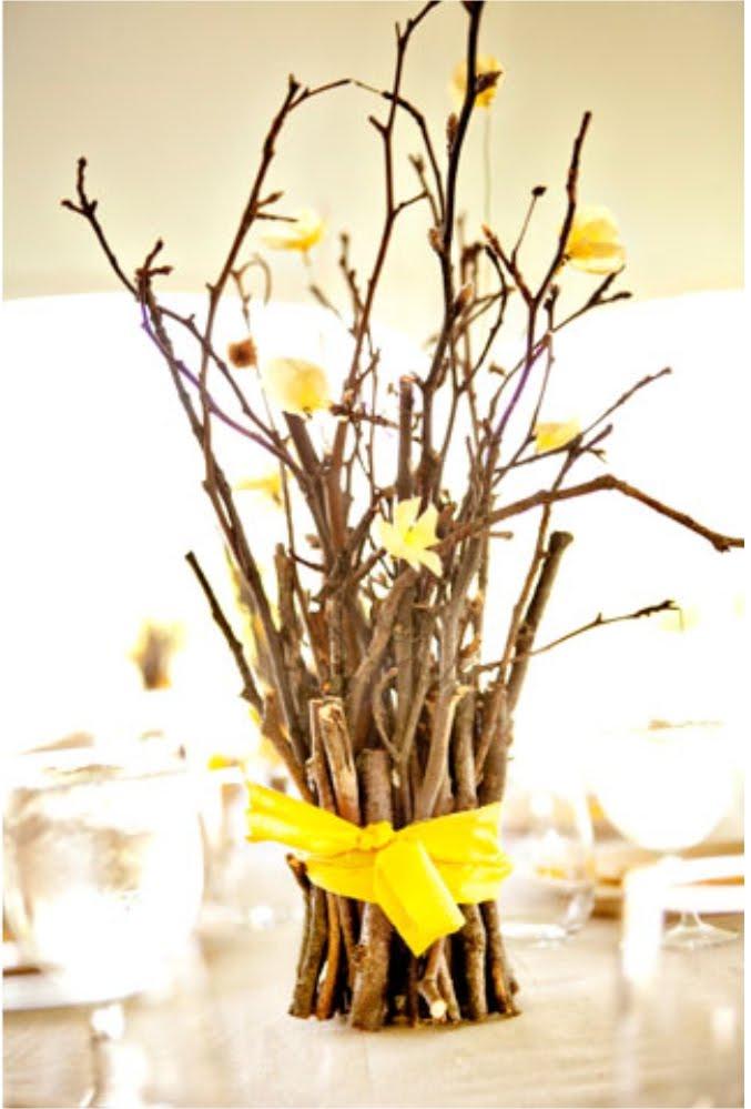 Декор из веток в вазу своими руками