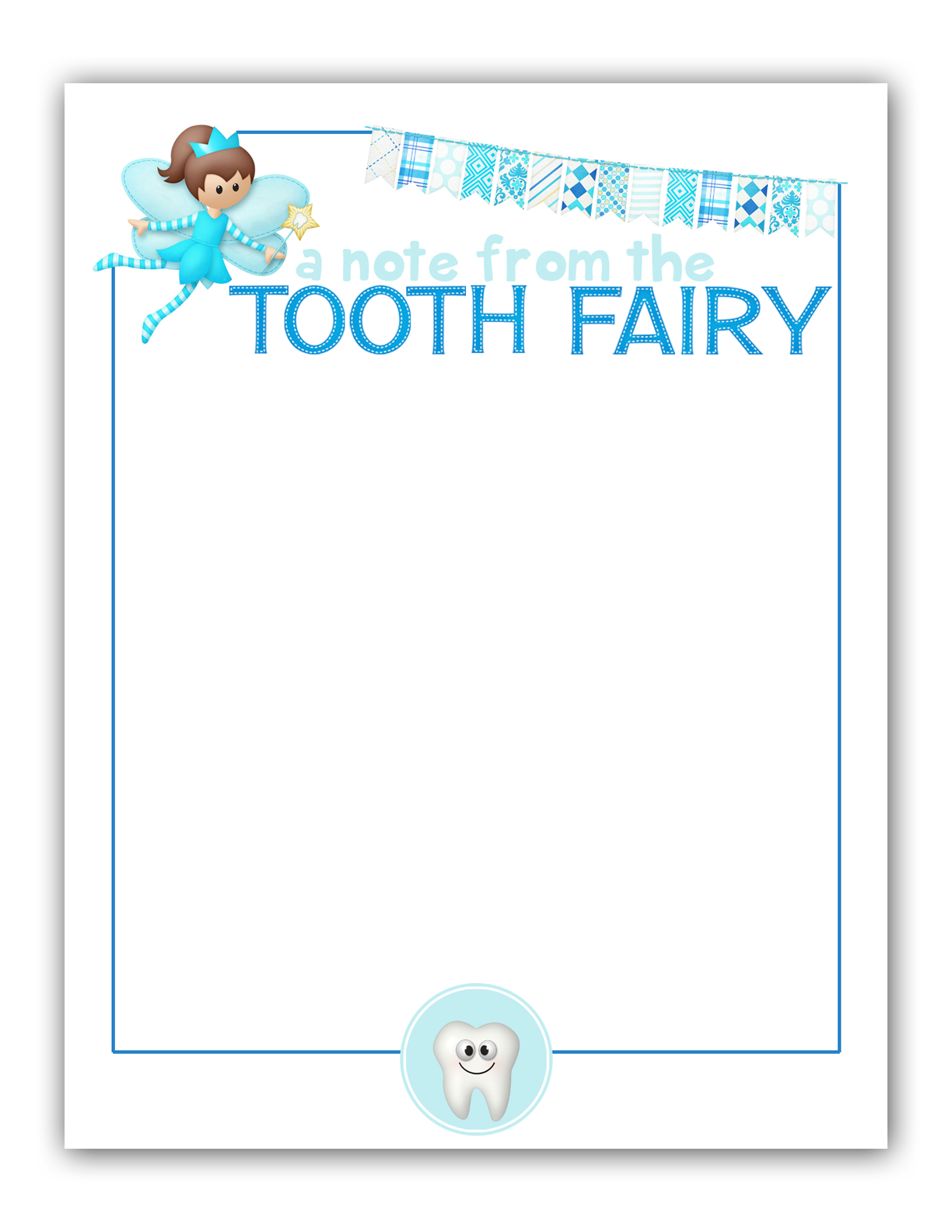 Dashing image with regard to free tooth fairy printable