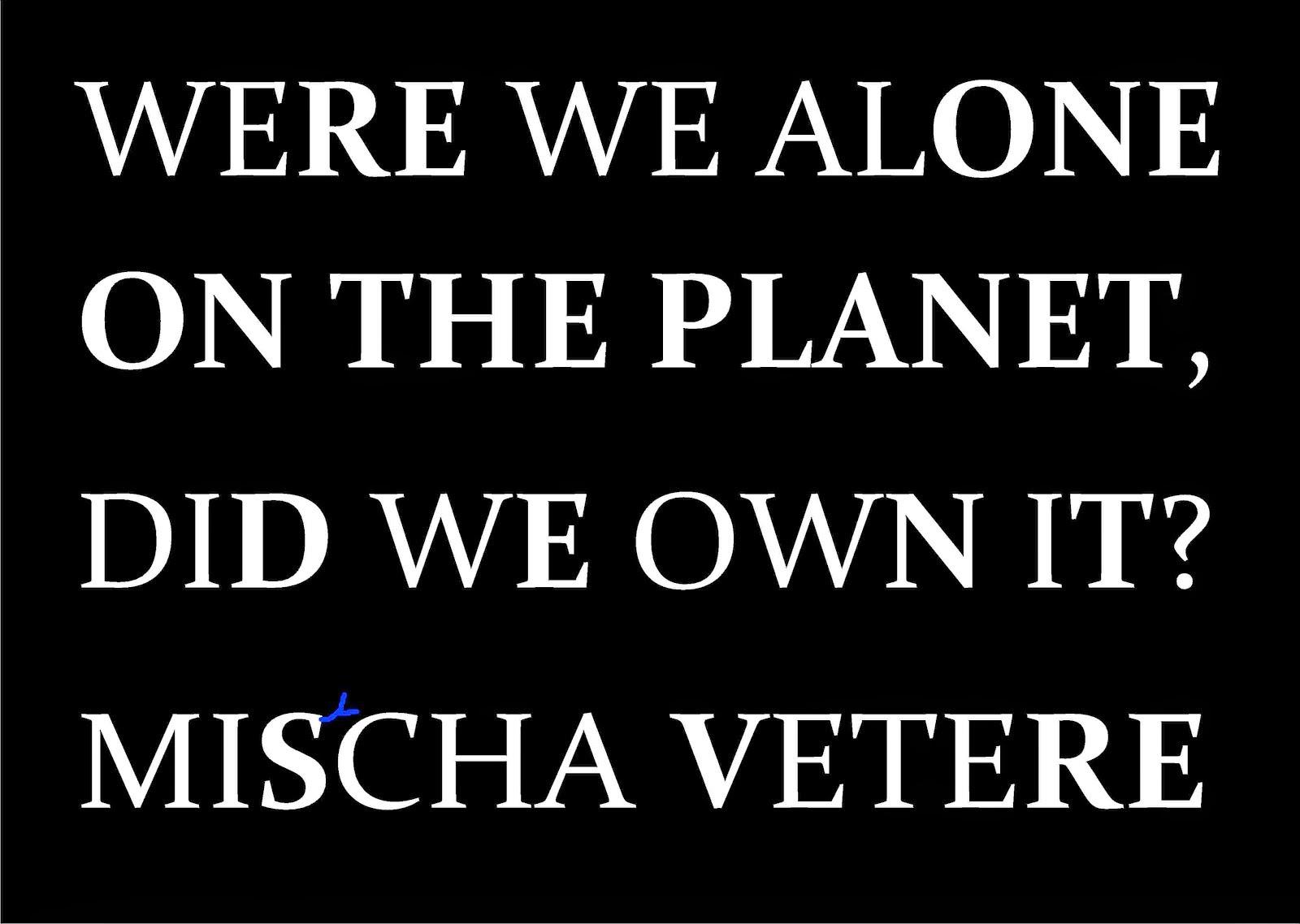 S-talk SHAKESPEARE talk mischa vetere THE MENTAL REVOLUTION earth environment