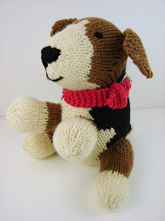 knit dog puppy toy