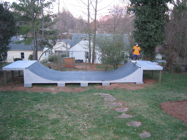 this halfpipe was built for a guy in lincolnton nc looks like he 39 s