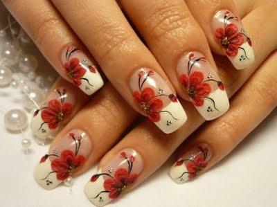 shade' nail art long nails