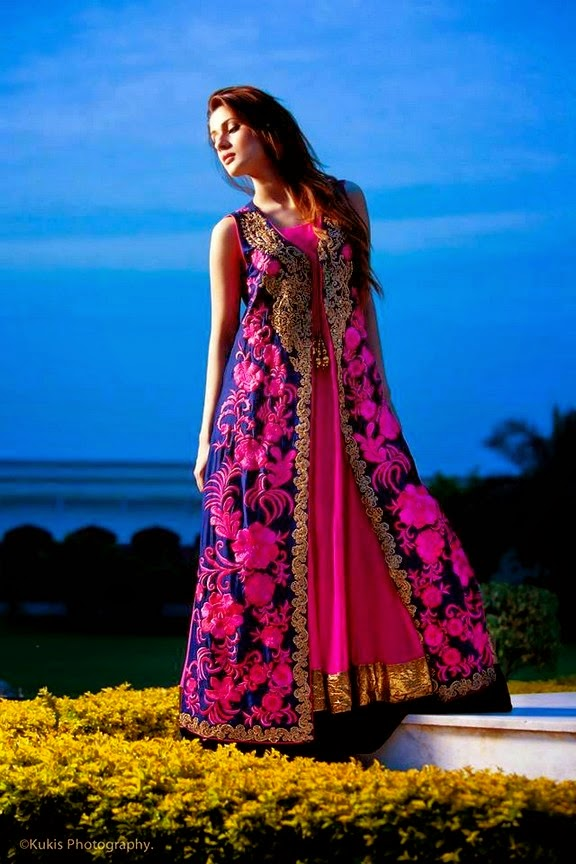 Embroidered Formal Dresses by Mina Hasan