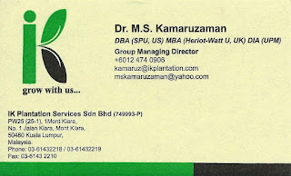 IK PLANTATION SERVICES SDN BHD