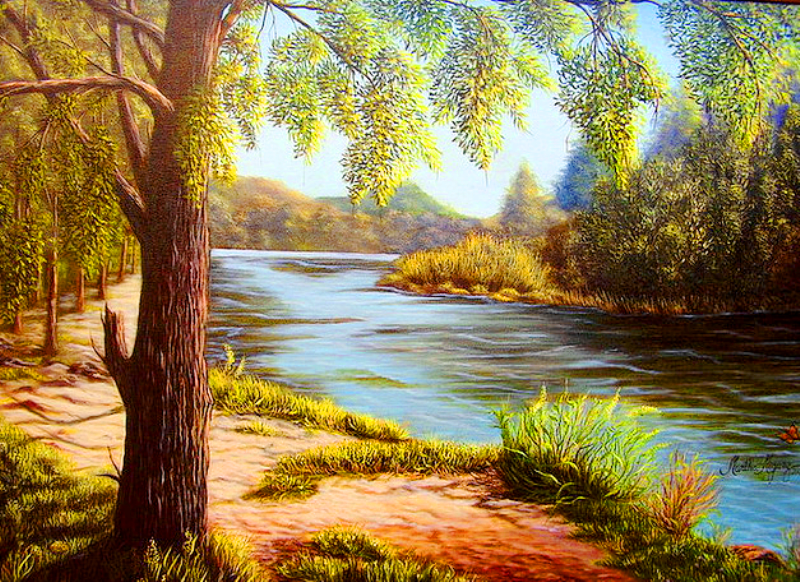 Im genes arte pinturas paisajes con belleza naturaleza - Como pintar al oleo paso a paso ...