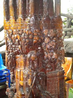 Wat Sangkhathan Nonthaburi วัดสังฆทาน นนทบุรี wood carvings