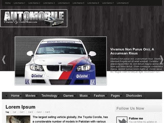 Automobile Blogger Templates