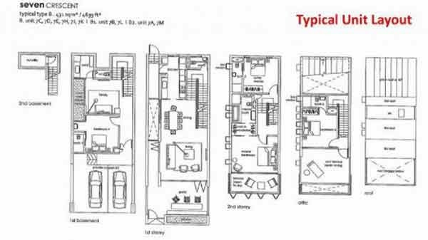 Seven Crescent Typical Unit Layout