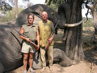 Rey cazando elefantes