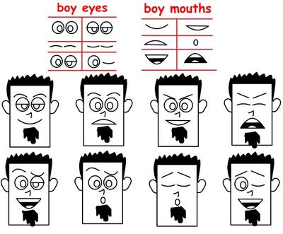 T Learn To Draw Cartoon Faces Continued