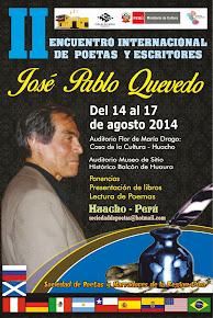 """II ENCUENTRO INTERNACIONAL DE POETAS Y ESCRITORES 2014 """"JOSE PABLO QUEVEDO"""""""