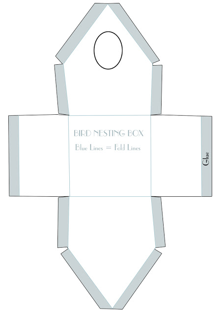 birdhouse template for paper crafting architecture modern idea