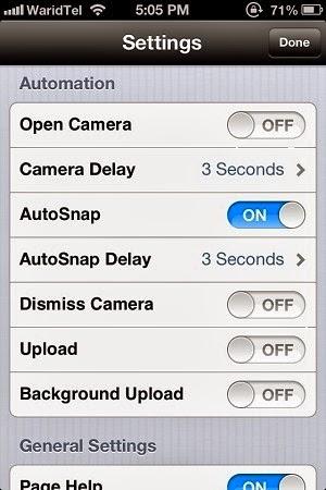 AutoSnap para iOS 6