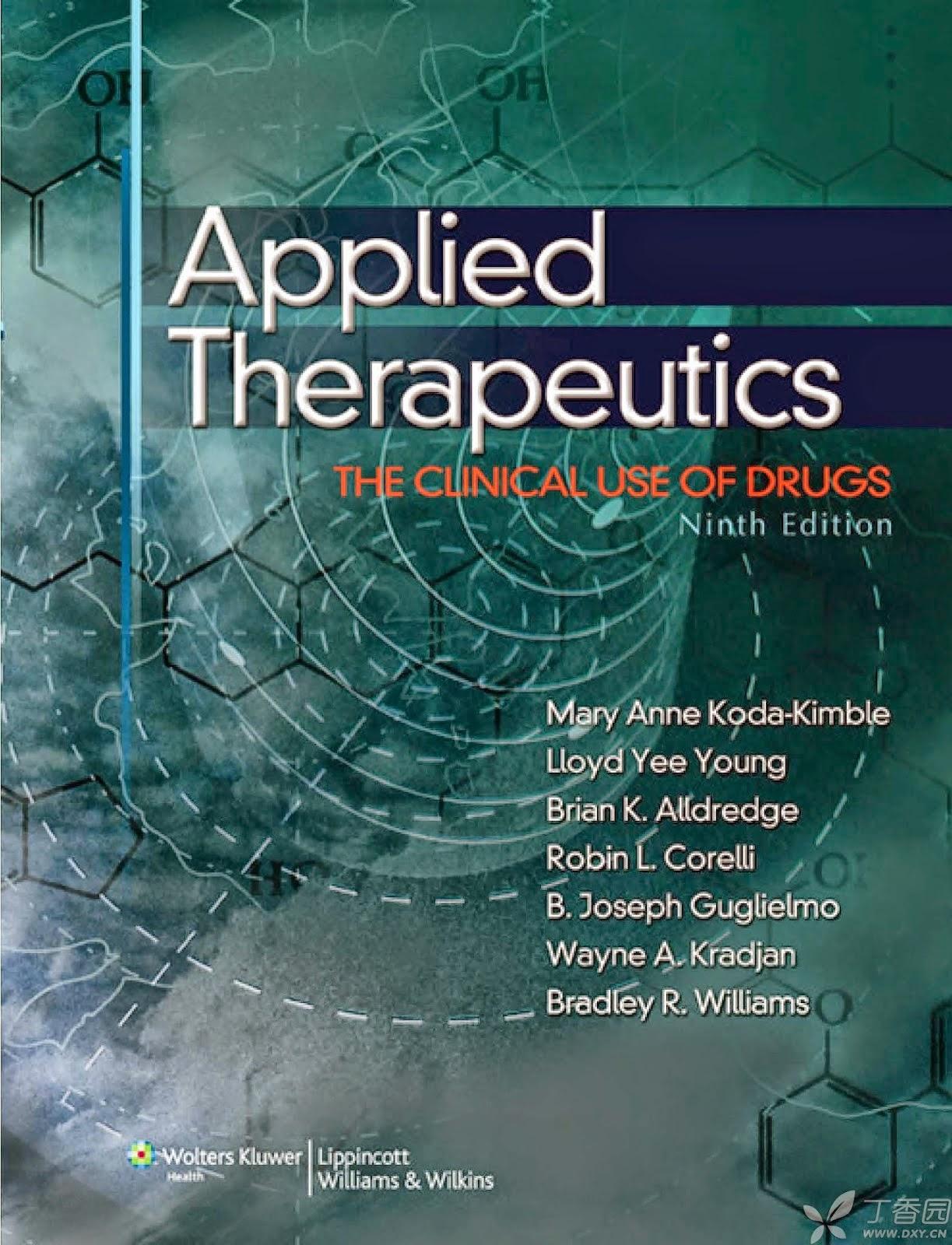تحميل كتب في الصيدلة الاكلينيكية applied therapeutics.pdf