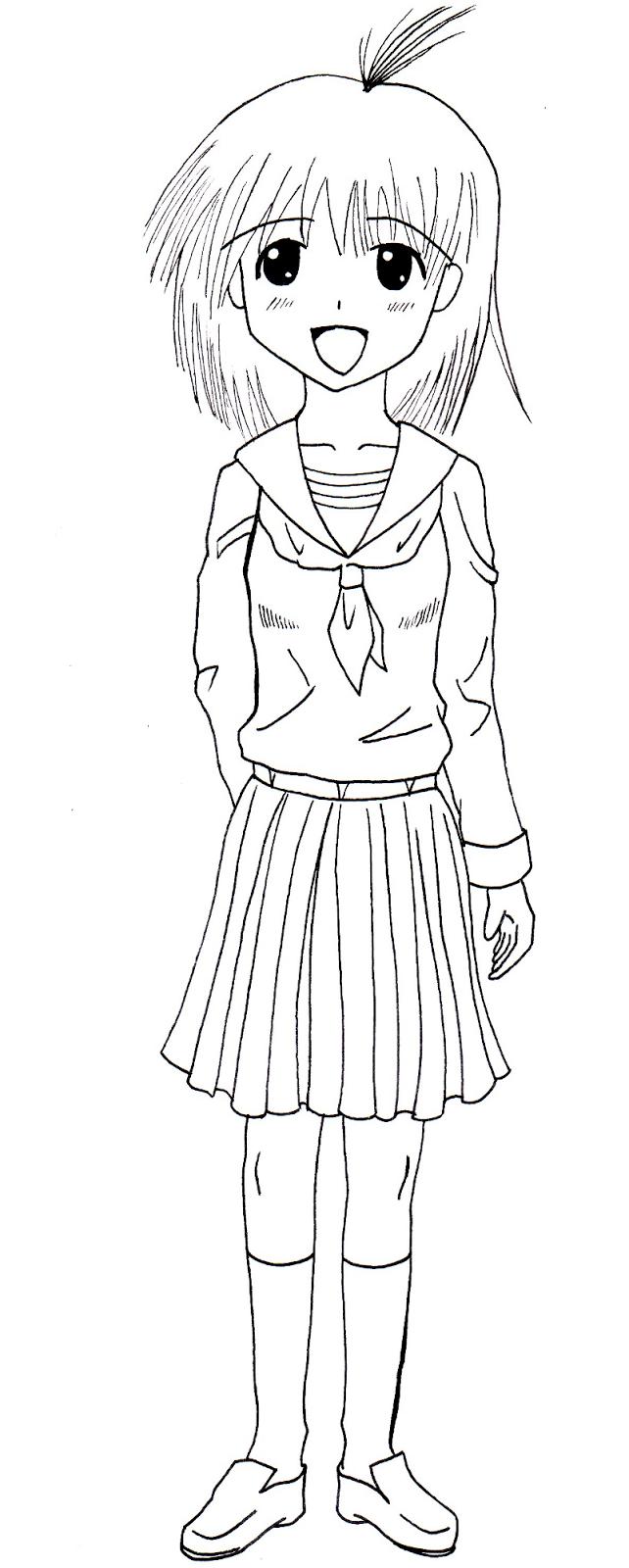 Uniforms school uniforme scolaire dessin - Fille manga a dessiner ...