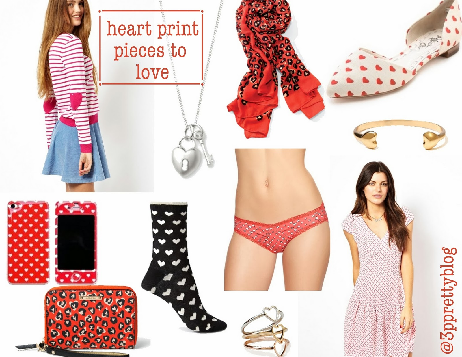Heart print pieces to love