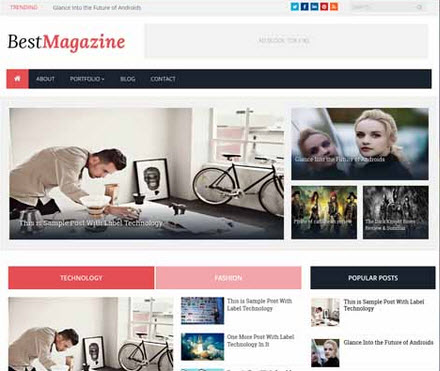 Best Magazine Responsive Free Blogger Template