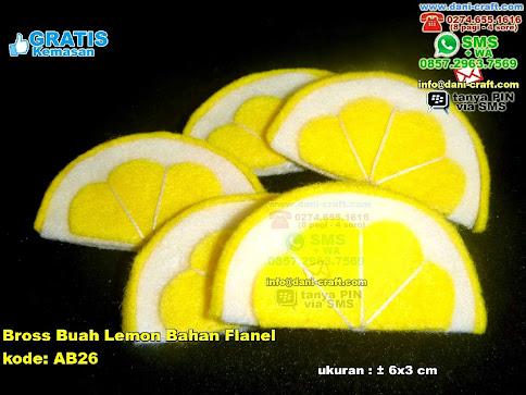 Bross Buah Lemon Bahan Flanel Flanel